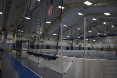 New indoor soccer portable mesh wall at Northside Park