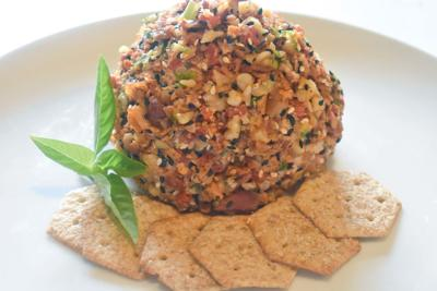 Cheese Balls Encased with Crispy Bacon and Crunchy Walnuts