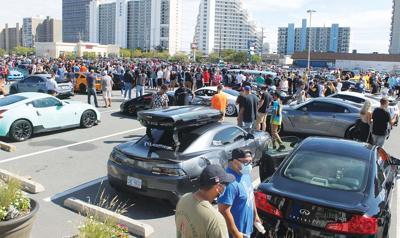 Pop-up car rally