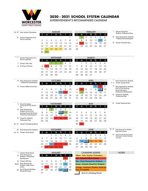 WCPS Board of Education approves 20 21 calendar | News