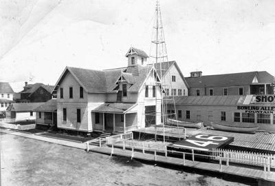 Photos displayed in museum detail history of Ocean City