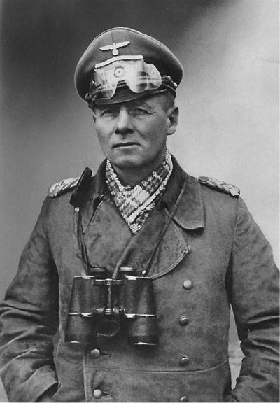 137 Erwin Rommel with trademark goggles