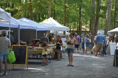 Local farmer's markets offer fresh food and merchandise