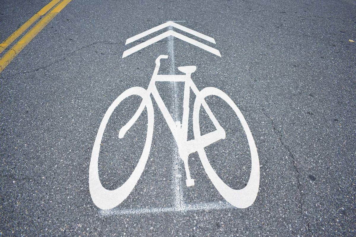 Bicycle lane marking