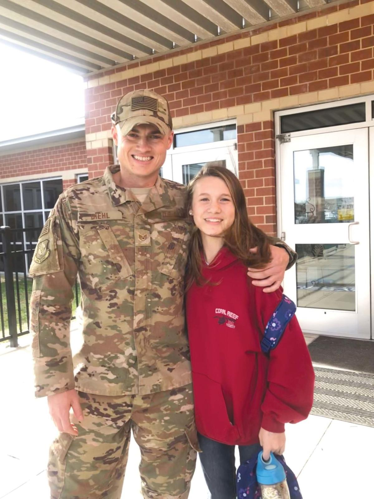 Staff Sgt. Diehl and daughter