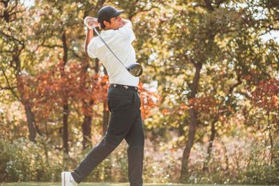 Image Taken at Oklahoma State Golf Practice, Wednesday, October 7, 2020, Karsten Creek, Stillwater, OK. Scarlett Gooch/OSU Athletics.
