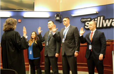 Police being sworn in