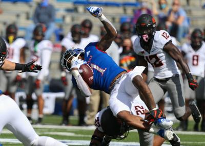 COLLEGE FOOTBALL: OCT 03 Oklahoma State at Kansas