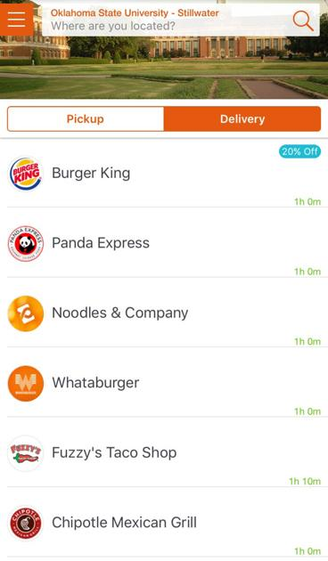 Stillwater Food Delivery App