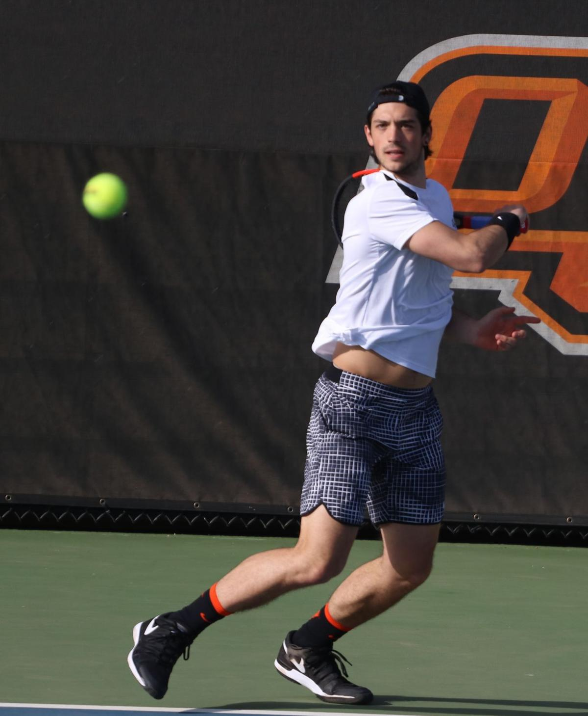 Cowboy Tennis Competes In First Big 12 Match Of The Spring