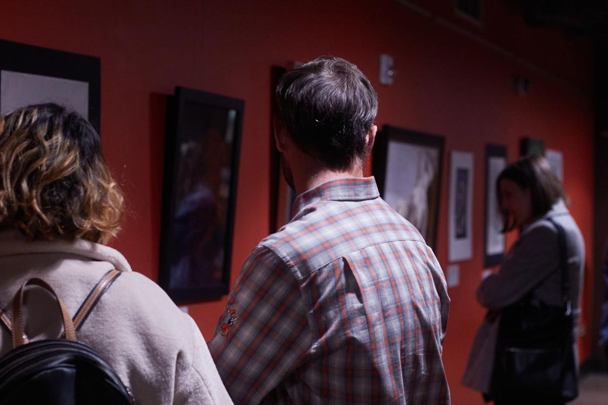 People looking at gallery