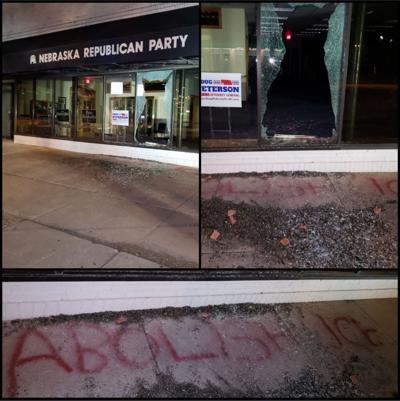 Vandalism at Nebraska GOP office