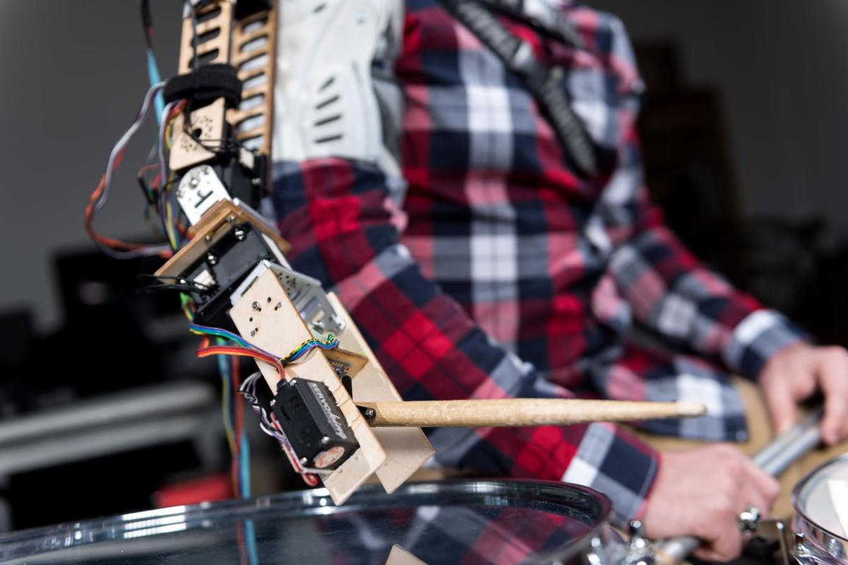Scientists lend a hand to give drummer a third arm