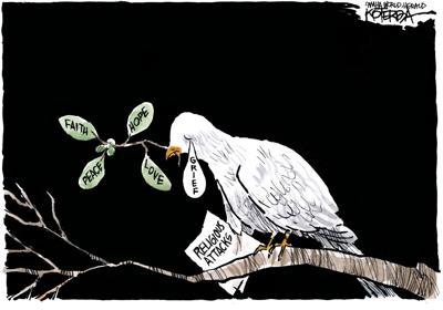 Jeff Koterba's latest cartoon: Trying to keep the faith