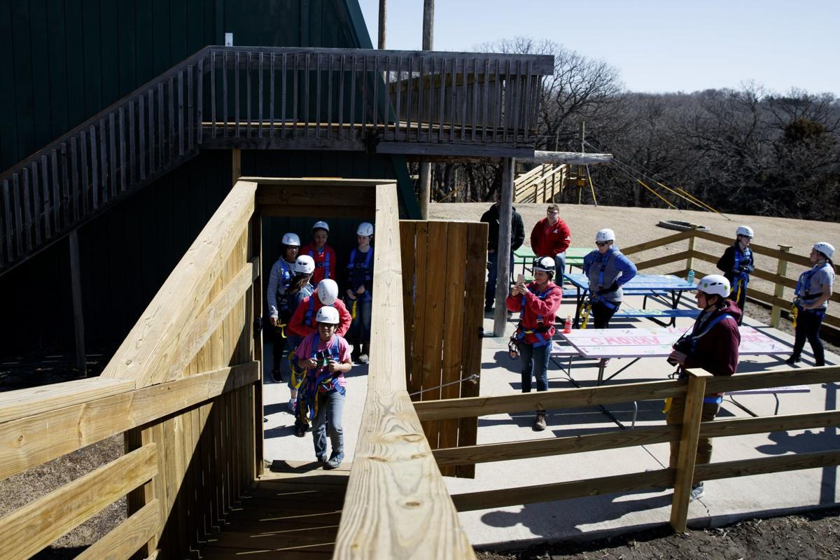 nebraska s first zip line course opens at girl scout camp