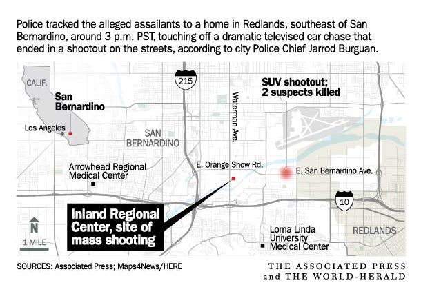 Authorities hint San Bernardino macre could have been ... on hodge road shooting map, imperial blm map, california gold rush map, shooting apple valley map, holcomb valley gold rush map, california shooting map, riverside blm land map, clark county shooting map, san bernardio county map, chattanooga shooting map, palm springs shooting map, baltimore shooting map,