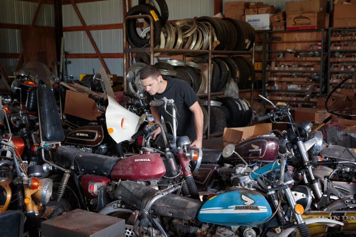 vintage motorcycles are dusted off, polished up and ready for the
