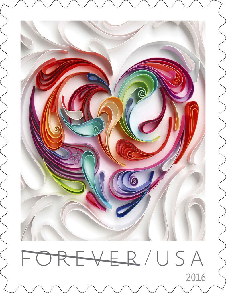 Take a look at mind-blowing artwork on new 'Love' stamp