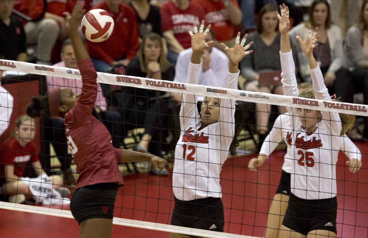 No. 5 Nebraska volleyball earns 10th straight sweep of Indiana