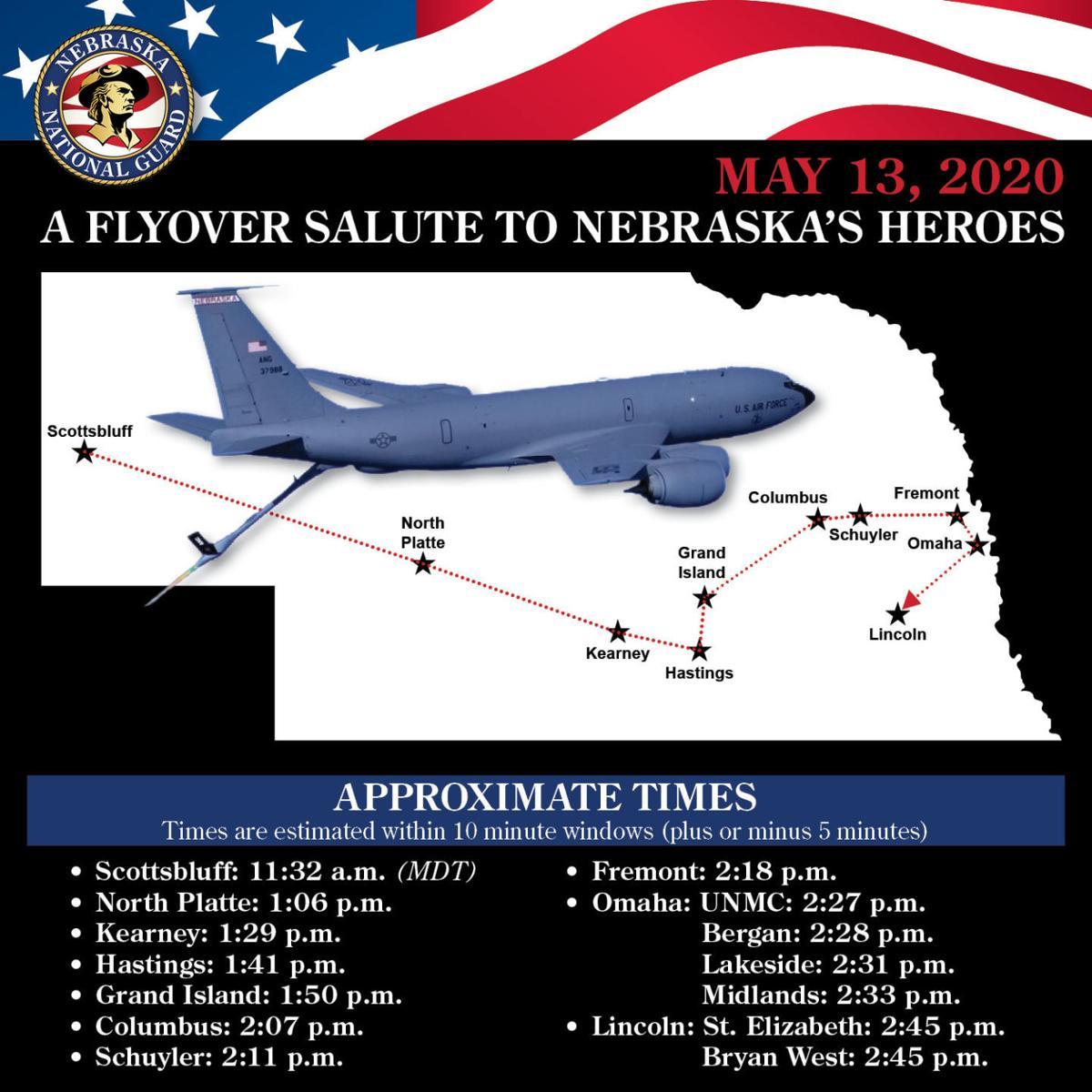 Flyover schedule