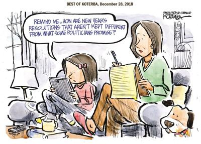 Best of Jeff Koterba's cartoons: Resolutions and politicians