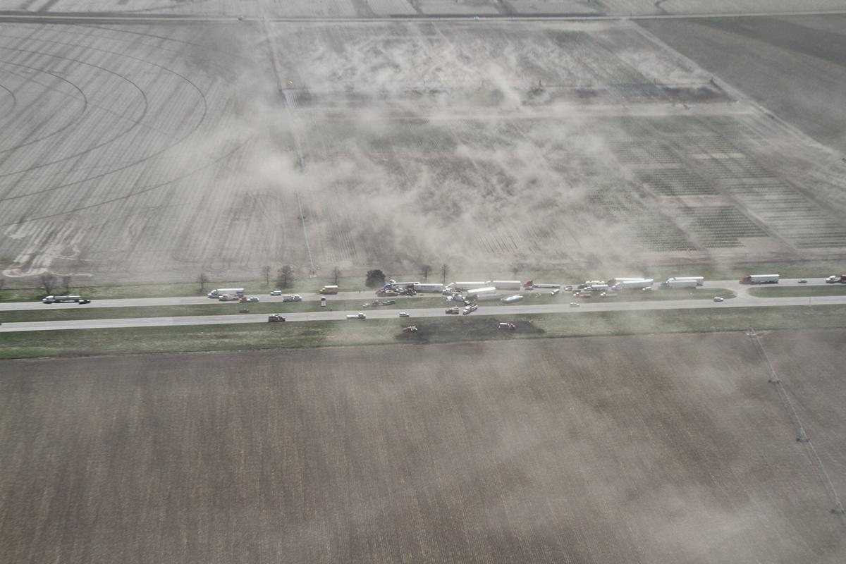Dust storms cause pileups on I-80, claim one life, injure others