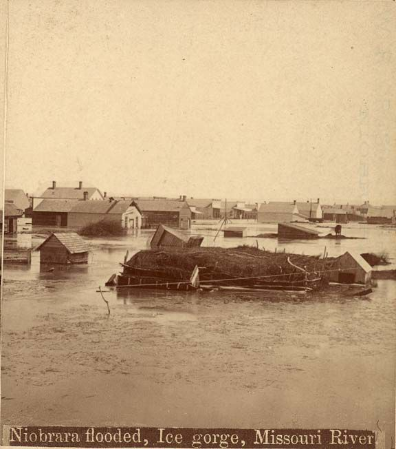Missouri River flooding in 1881