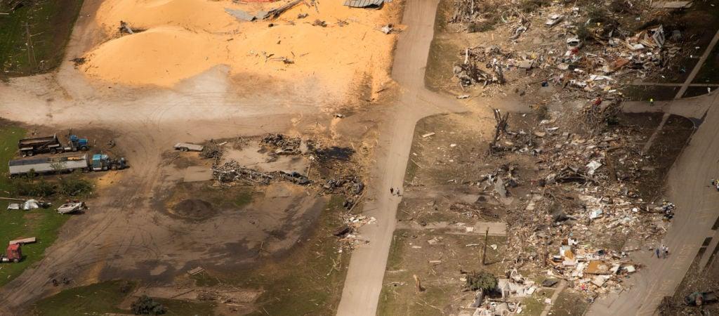 Pilger tornado damage aerial