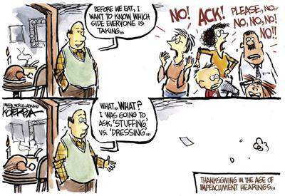 Jeff Koterba's latest cartoon: Choosing sides at the holidays