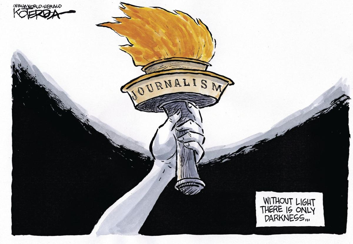Jeff Koterba's cartoon: Torch of truth