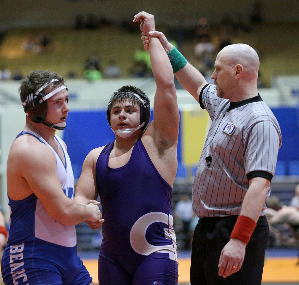 Coufal's pin avenges loss, lifts Patriots to title