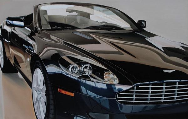 Aston Martin Painting   Omaha Art Gallery