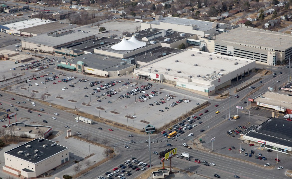 Crossroads Mall aerial 2014