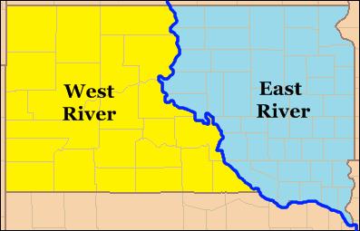 south dakota regions