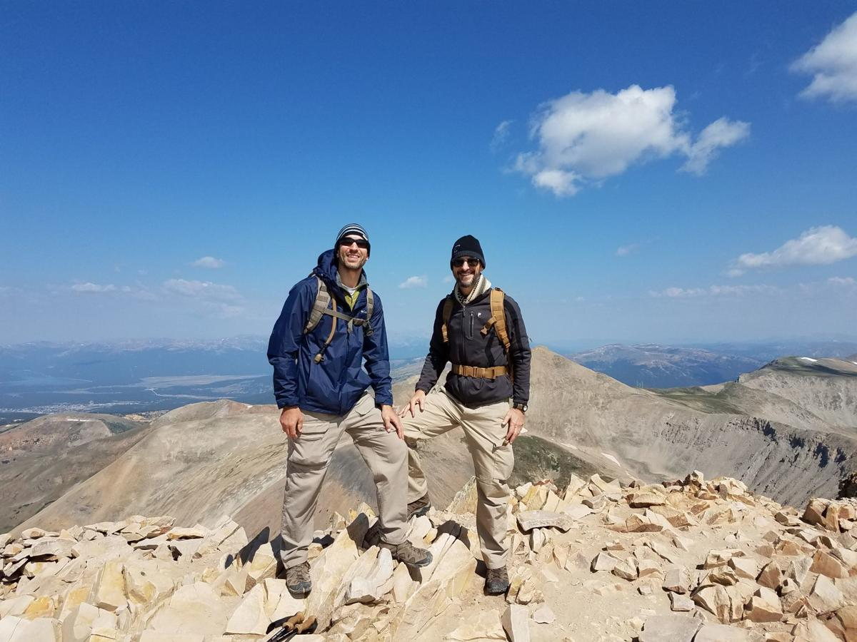 Wallick and Nachtigall on mountain