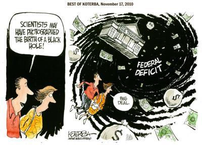 Best of Jeff Koterba's cartoons: How to create a black hole