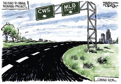 Jeff Koterba's latest cartoon: The new road to Omaha