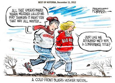Best of Jeff Koterba's cartoons: Stormy Husker forecast