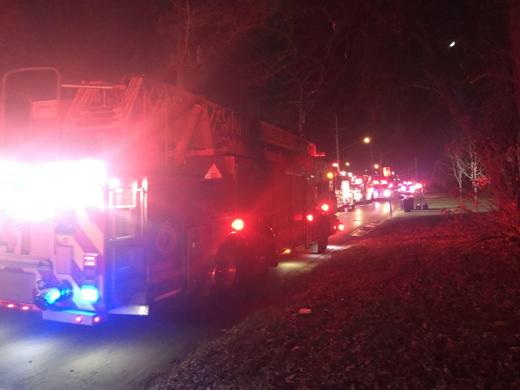 2 people hospitalized in serious condition after apartment fire