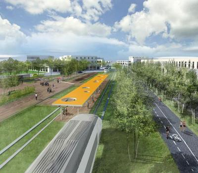 Repurposed Omaha rail line would include light rail system, trail