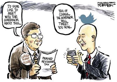 Jeff Koterba's latest cartoon: Meeting vs. tweeting