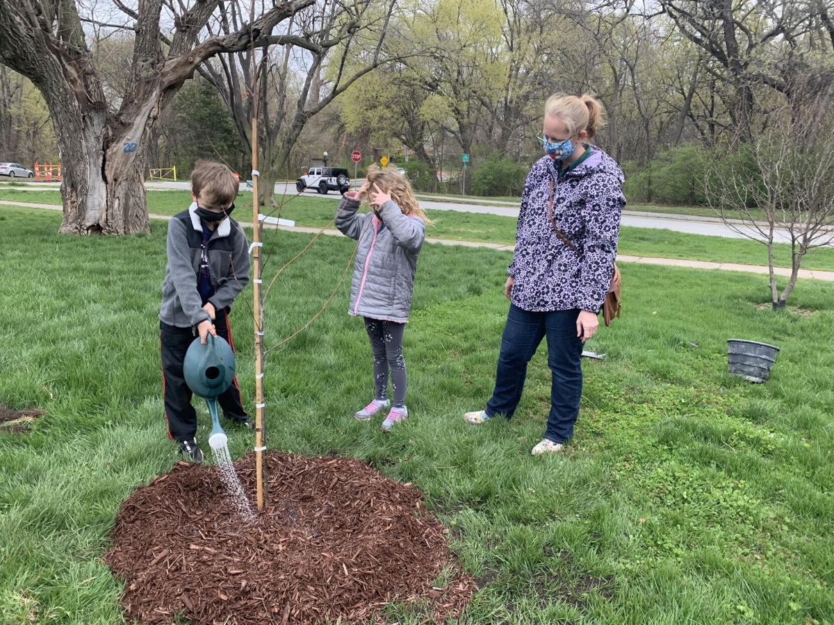 tree planting Earth Day Omaha