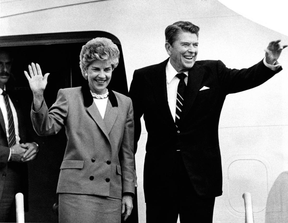 Kay Orr and Ronald Reagan in 1986