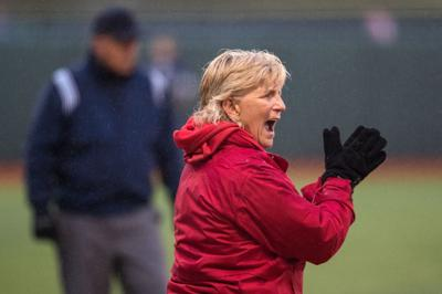 Nebraska softball coach Rhonda Revelle sees Huskers trending up at end of down season
