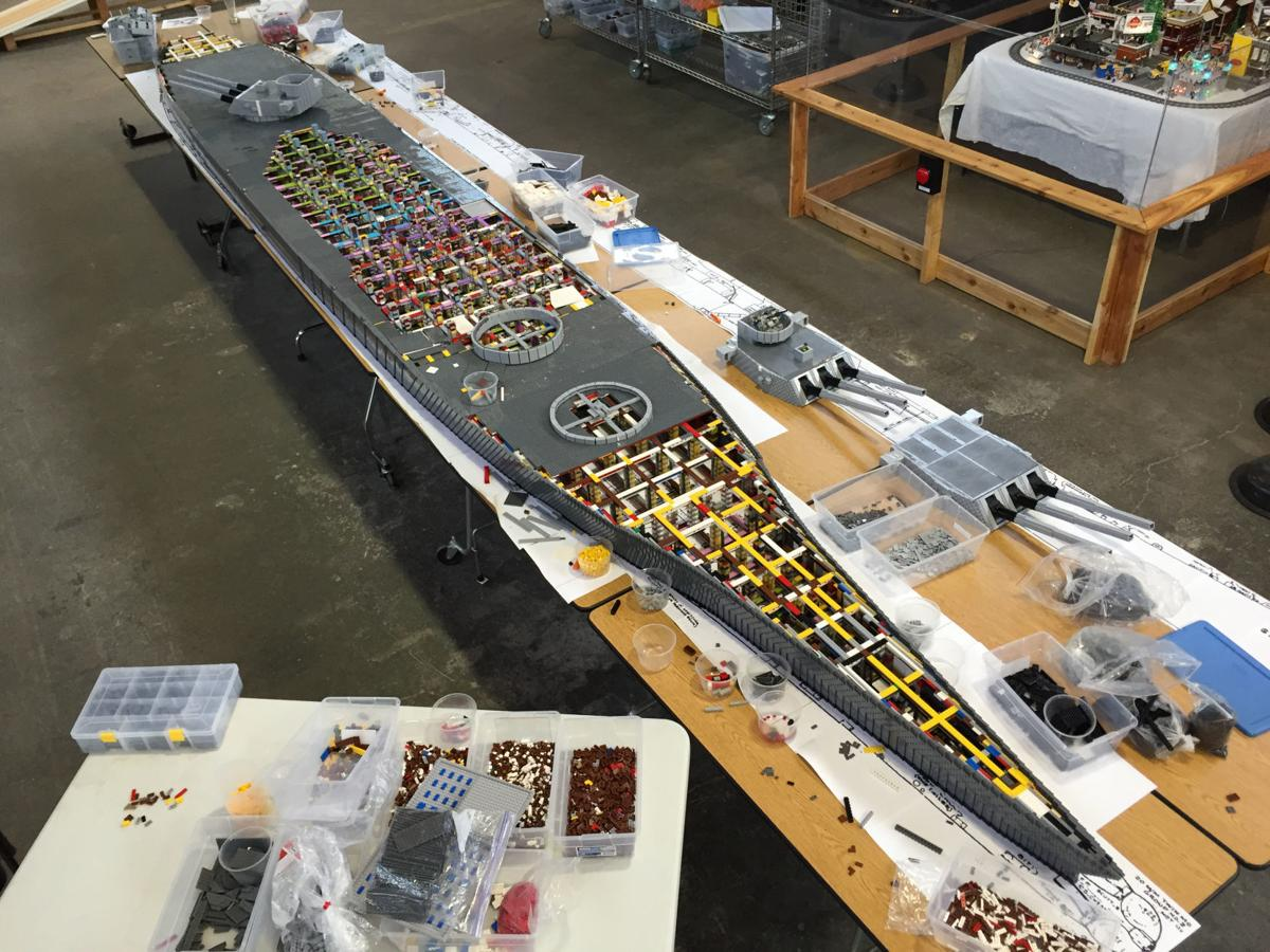 World S Biggest Lego Battleship Half A Million Bricks Sets Sail For Council Bluffs This Weekend Entertainment Omaha Com