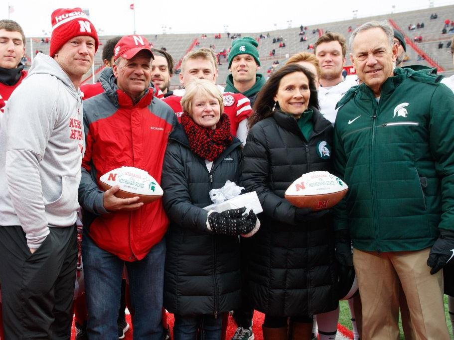 Huskers and Spartans part of emotional pregame ceremony honoring Sam Foltz and Mike Sadler