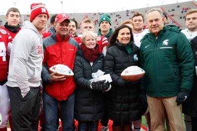 Huskers and Spartans part of emotional pregame ceremony