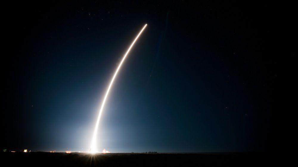 Space satellite lifts into orbit (copy)