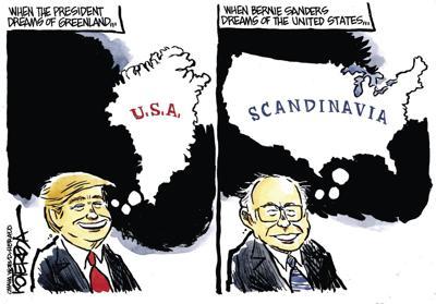Jeff Koterba's latest cartoon: Continental divide