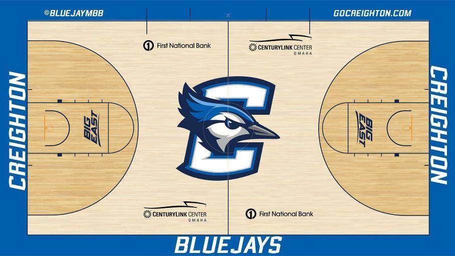 Changes to baseline, 3-point line part of Creighton's new CenturyLink Center court design
